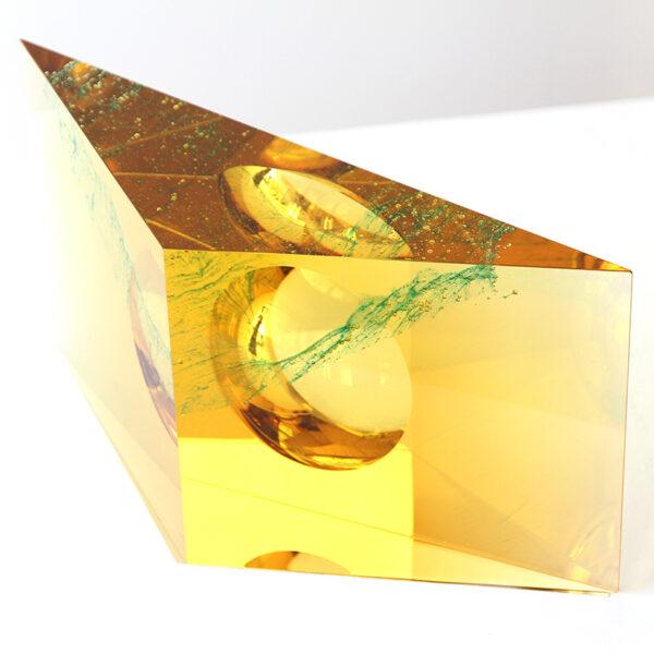 AJ Bird golden-yellow green inner structure 25,5x13,5x7,3 cm LR IMG_9105