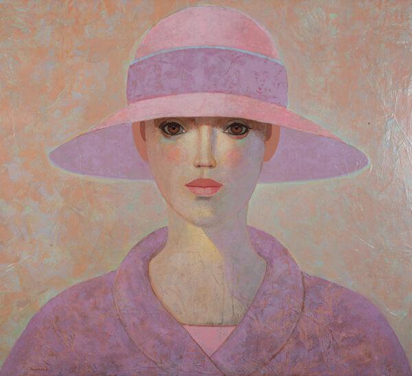 Lady with purple coat 109x110 cm LR DSC_9630