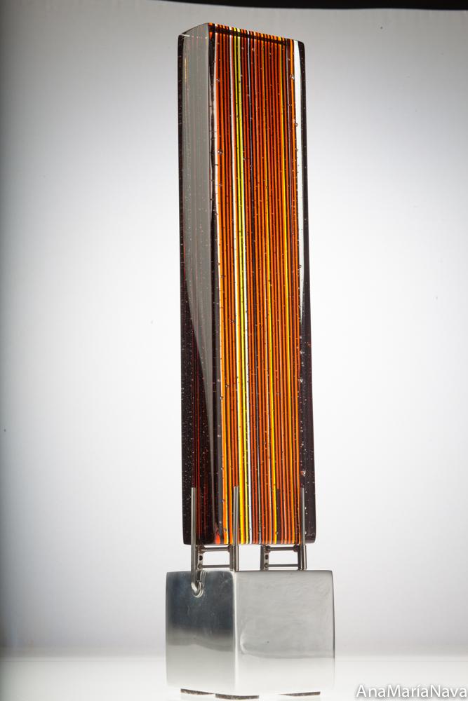 Lineal naranja-negra 41x8x8 cm 1155