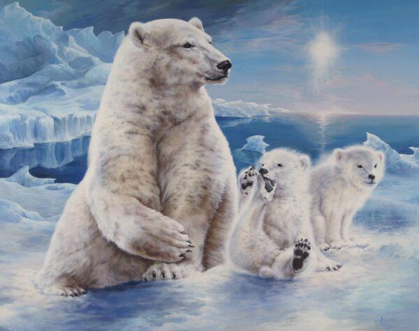 Playing polarbears