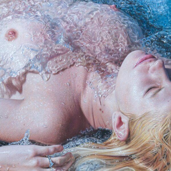 Aurelio Rodrigues Lopez, Water's Caress, 2019, Pastel on paper, 49x42 cm (19x16 inch)